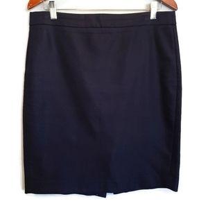 J. CREW Black Cotton Above Knee Pencil Skirt